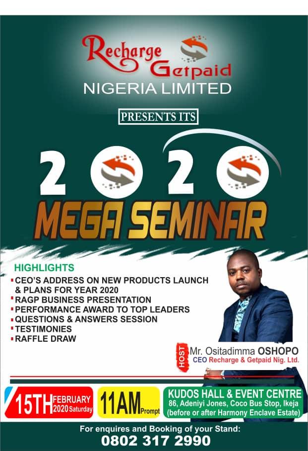 RAGP Lagos Seminar 2020